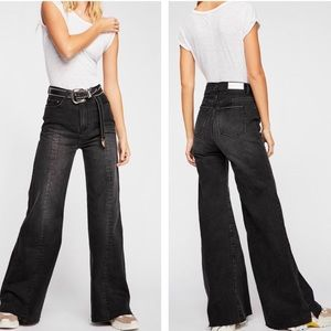 Neo blonde siren sweep high rise tapered leg jean
